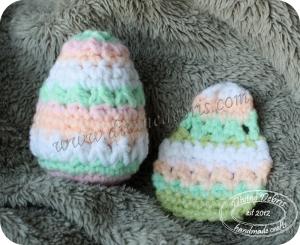 Crochet Easter eggs by Divine Debris
