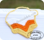 Candy Corn necklace by Divine Debris